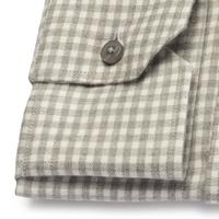 Koszula flanelowa męska w szarobiałą kratę 36