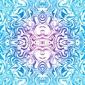 Plakat na papierze fotorealistycznym psychodeliczny szwu tranzytu abstrakcyjny wzór w kolorze niebieskim