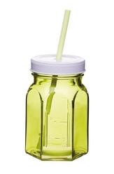Słoik do serwowania ze słomką Coolmovers zielony