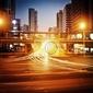 Obraz krajobrazy miejskie, światła drogowe