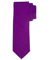 Fioletowy jedwabny krawat profuomo