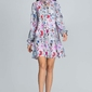 Dziewczęca sukienka z wzorem z falbaną na dole - wzór 73