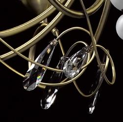 Żyrandol osiem ramion i beżowe klosze federica mw-light elegance 684012408