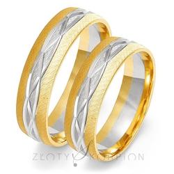 Obrączki ślubne złoty skorpion – wzór au-oe191