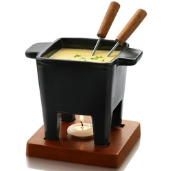 Zestaw do sera i czekolady tapas fondue boska 200 ml, podstawa z mahoniu bo-853530