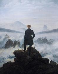 Wędrowiec ponad morzem mgły - plakat Wymiar do wyboru: 20x30 cm