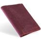 Skórzany cienki portfel slim wallet z miejscem na monety brodrene sw08 czerwony - czerwony