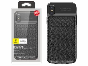 Baseus Etui z baterią 3500mAh Apple iPhone X Xs Power bank - Czarny