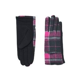 Rękawiczki krata różowe - RÓŻOWE