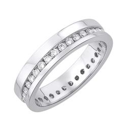 Staviori obrączka. 35 diamentów, szlif brylantowy, masa 0,50 ct., barwa h, czystość si2. białe złoto 0,585. szerokość 4 mm. grubość 1,2 mm.  dostępne inne kolory złota.