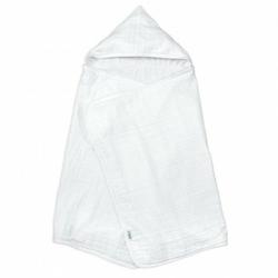 Muślinowy biały ręcznik z kapturem z bawełny organicznej Green Sprouts