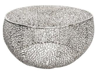 Designerski stolik kawowy leaf  srebrny 80 cm