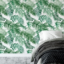 Tapeta na ścianę - wonderful leaves , rodzaj - tapeta flizelinowa laminowana