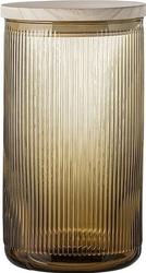 Pojemnik szklany Bloomingville brązowy L