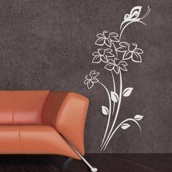 Szablon malarski kwiaty motyl 1236