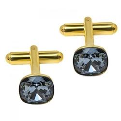 Spinki do mankietów z kryształami swarovski srebro pr. 925 010
