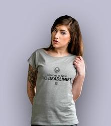 Życie po deadlinie t-shirt damski jasny melanż xxl