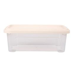 Pojemnik  organizer do przechowywania modułowy tontarelli combi box z pokrywką arianna kremowy 2,5 l