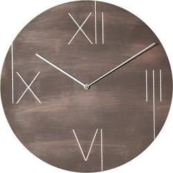 Zegar ścienny z podświetlaną tarczą galileo brązowy
