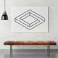 Bryła geometryczna 3d - obraz designerski , wymiary - 80cm x 120cm