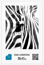 Biała ramka aluminiowa 30x45 cm
