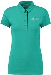 Koszulka polo damska mercedes amg - zielony