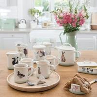 Dzbanek do herbaty ceramiczny 1,4 litra zając apple farm kitchen craft afteapot