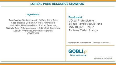 Loreal pure resource, szampon dogłębnie oczyszczający 300ml