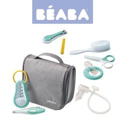 kosmetyczka z akcesoriami do pielęgnacji niemowląt beaba - grey