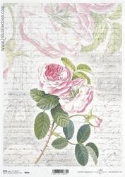 Papier ryżowy itd a4 r644 róża vintage