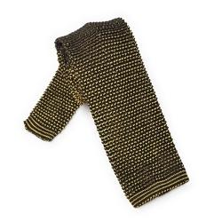 Dwukolorowy krawat VAN THORN czarny i żółty