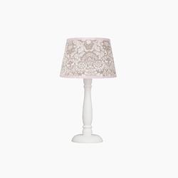 Lampka nocna roomee decor - beżowo-różowy ornament