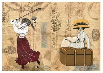 Papier ryżowy Calambour 33x48 cm kobieta