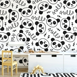 Tapeta dziecięca - panda decor , rodzaj - tapeta flizelinowa