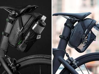 Torba sakwa rowerowa pod siodełko na bidon narzędzia rockbros c7-1 czarne