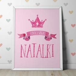 Królestwo dziecka - personalizowany plakat dziecięcy , wymiary - 70cm x 100cm, kolor ramki - biały
