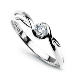 Staviori pierścionek. diament, szlif brylantowy, masa 0,15 ct., barwa g, czystość si1. białe złoto 0,585.