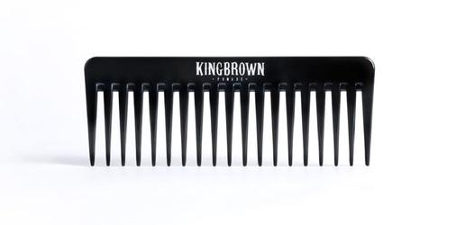 King brown - black texture comb - grzebień do włosów