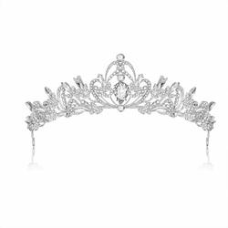 OZDOBA do włosów ŚLUBNA srebrna DIADEM kryształ
