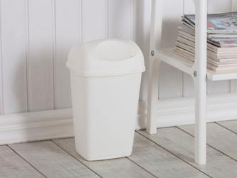 Kosz na śmieci uchylny do łazienki i biurka tontarelli grace 9 l biały