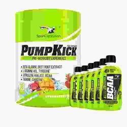SPORT DEFINITION Pump Kick - 450g + BCAA 5500 Drink 250ml - Strawberry Mango  Grapefruit