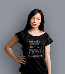 Zakaz wstępu zakochana t-shirt damski czarny xxl