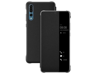 Etui smart view cover do huawei p20 pro czarne - czarny