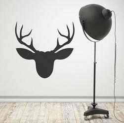 Jeleń - naklejka ścienna , kolor naklejki - czarna, wymiary naklejki - 90cm x 90cm