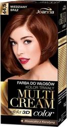 Joanna multi cream color, farba do włosów, 44.5 miedziany brąz