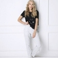 Piżama damska aruelle catwoman long krr s-xl