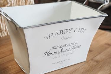 Metalowa osłonka na doniczkę sweet home prostokątna 17.7 cm