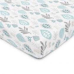 Prześcieradło z gumką do łóżeczka floral mint 140×70 cm