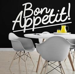Bon appetit - naklejka ścienna , kolor naklejki - czarna, wymiary naklejki - 200cm x 100cm