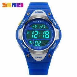 Zegarek dziecięcy SKMEI 1077 ALARM LED blue - BLUE